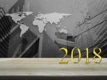 Concepto 2018 de la Feliz Año Nuevo Imágenes de archivo libres de regalías