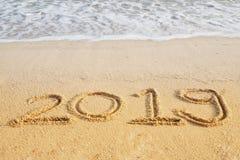 Concepto 2019 de la Feliz Año Nuevo Imagenes de archivo