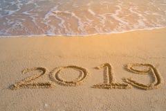 Concepto 2019 de la Feliz Año Nuevo Fotos de archivo