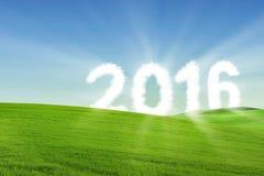 Concepto 2016 de la Feliz Año Nuevo Imagen de archivo libre de regalías