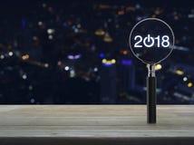 Concepto 2018 de la Feliz Año Nuevo del negocio Imágenes de archivo libres de regalías