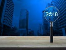 Concepto 2018 de la Feliz Año Nuevo del negocio Imagen de archivo