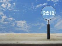 Concepto 2018 de la Feliz Año Nuevo del negocio Foto de archivo libre de regalías