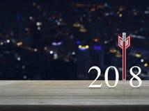 Concepto 2018 de la Feliz Año Nuevo de la estrategia empresarial Fotos de archivo libres de regalías