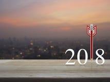 Concepto 2018 de la Feliz Año Nuevo de la estrategia empresarial Foto de archivo