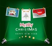 Concepto de la Feliz Navidad y del festival de la Feliz Año Nuevo Imagen de archivo libre de regalías