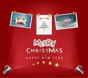 Concepto de la Feliz Navidad y del festival de la Feliz Año Nuevo La Navidad p Imagenes de archivo