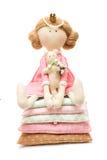 Concepto de la feminidad - princesa de la muñeca Fotos de archivo libres de regalías
