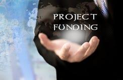 Concepto de la financiación de proyecto fotografía de archivo