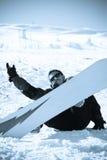 Concepto de la forma de vida del deporte de invierno Fotos de archivo libres de regalías