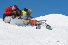 Concepto de la forma de vida del deporte de invierno Imagen de archivo