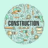 Concepto de la forma redonda de herramientas de las construcciones Imágenes de archivo libres de regalías