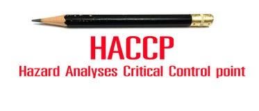 Concepto de la foto de muestra o de símbolo, punto de HACCP de control crítico de los análisis de peligro Imagen de archivo