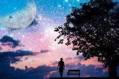 Concepto de la foto para Silhouetted y la depresión libre illustration