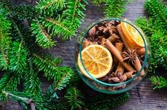 Concepto de la fragancia de la Navidad fotografía de archivo libre de regalías
