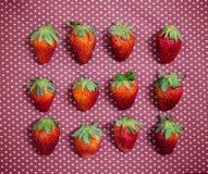 Concepto de la fresa del amor Fotografía de archivo