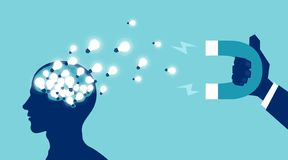 Concepto de la fuga de cerebros de la fuga de capitales humanos ilustración del vector