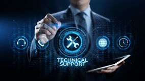 Concepto de la garantía de calidad de la garantía del servicio de atención al cliente del soporte técnico imágenes de archivo libres de regalías
