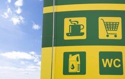 Concepto de la gasolinera Foto de archivo libre de regalías