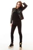 Concepto de la gente - adolescente en ropa casual Foto de archivo libre de regalías