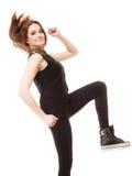 Concepto de la gente - adolescente en ropa casual Fotografía de archivo