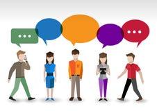 Concepto de la gente de la charla stock de ilustración