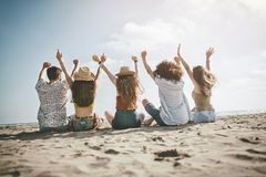 Concepto de la gente del mar de las vacaciones de verano de la playa Imagenes de archivo