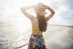 Concepto de la gente del mar de las vacaciones de verano de la playa Foto de archivo
