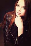 Concepto de la gente - retrato adolescente de la muchacha de la moda Imagen de archivo