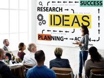 Concepto de la gestión de la acción del planeamiento del éxito de las ideas Fotos de archivo