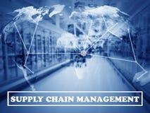 Concepto de la gestión de la cadena de suministro Foto de archivo