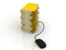 Concepto de la gestión de la información Fotografía de archivo