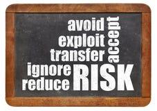 Concepto de la gestión de riesgos Imagenes de archivo