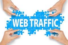 Concepto de la gestión de tránsito del web Fotografía de archivo libre de regalías