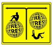 Concepto de la gestión del estrés Foto de archivo libre de regalías