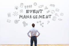 Concepto de la gestión del evento imagen de archivo