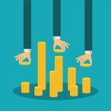 Concepto de la gestión financiera del vector Imagenes de archivo