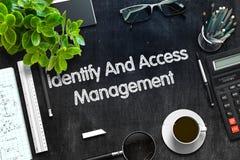 Concepto de la gestión identifique y de acceso 3d rinden fotos de archivo