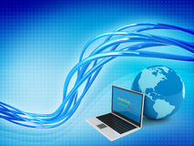 Concepto de la globalización del Internet Fotos de archivo