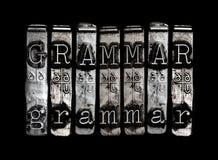 Concepto de la gramática Fotografía de archivo