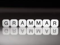 Concepto de la gramática Foto de archivo