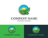 Concepto de la granja para el dise?o plano del estilo de los productos agr?colas del logotipo de la plantilla natural del dise?o  stock de ilustración