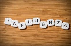 Concepto de la gripe Fotografía de archivo