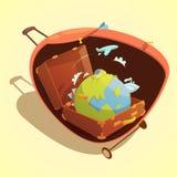Concepto de la historieta del viaje ilustración del vector