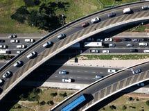 Concepto de la hora punta, tráfico excesivo aéreo foto de archivo libre de regalías