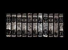 Concepto de la humillación Foto de archivo libre de regalías