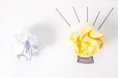 Concepto de la idea con las bolas de papel Fotos de archivo