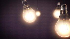 Concepto de la idea con las bombillas Imagenes de archivo