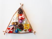 Concepto de la idea del árbol de navidad Fotografía de archivo libre de regalías