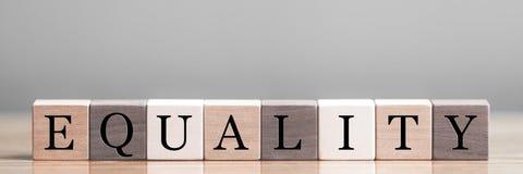 Concepto de la igualdad foto de archivo libre de regalías